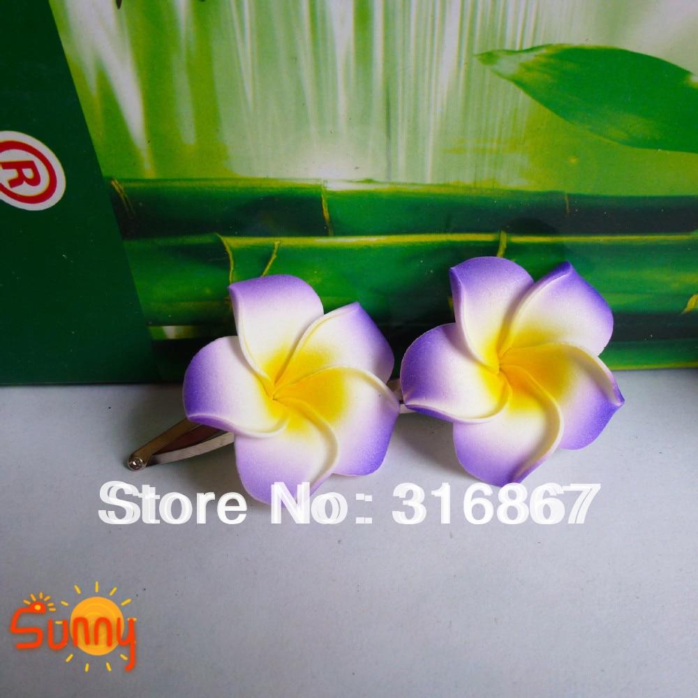 50 Purple Foam Hawaiian Plumeria Flower Frangipani Flower Bridal