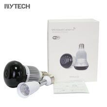 960P Bulb Light 360 Degree WIFI Camera 1.4mm Fisheye Panorama Indoor IR Security IP Camera Two Way Audio Night Vision