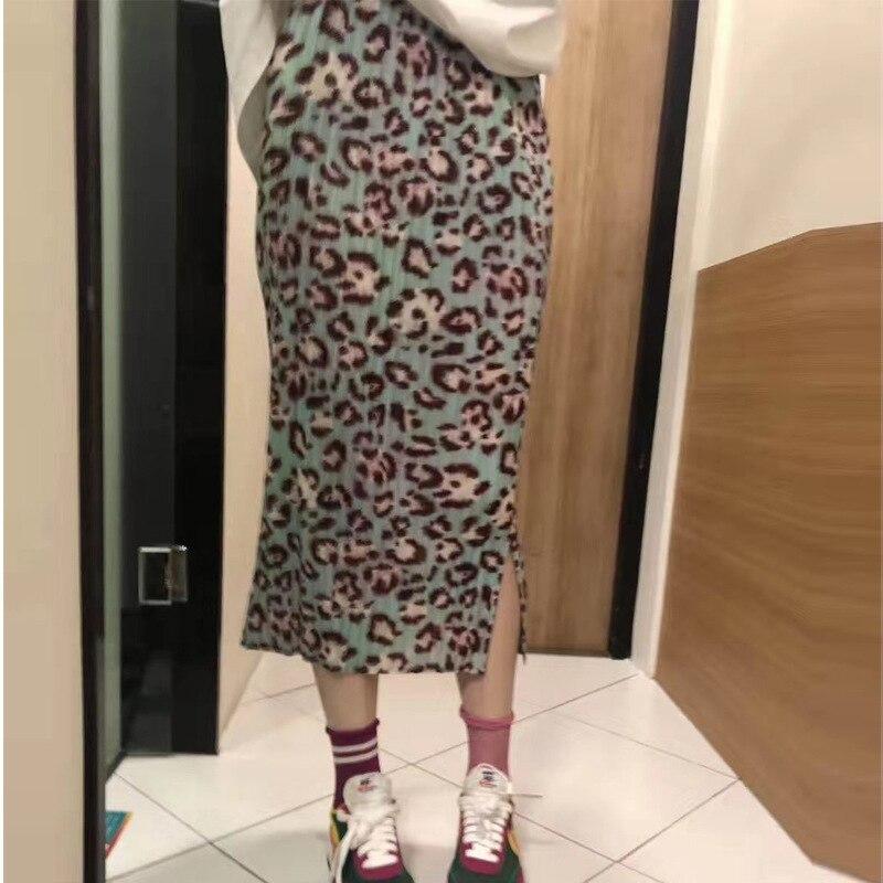 Бесплатная доставка Miyake fold модная леопардовая юбка с принтом в наличии