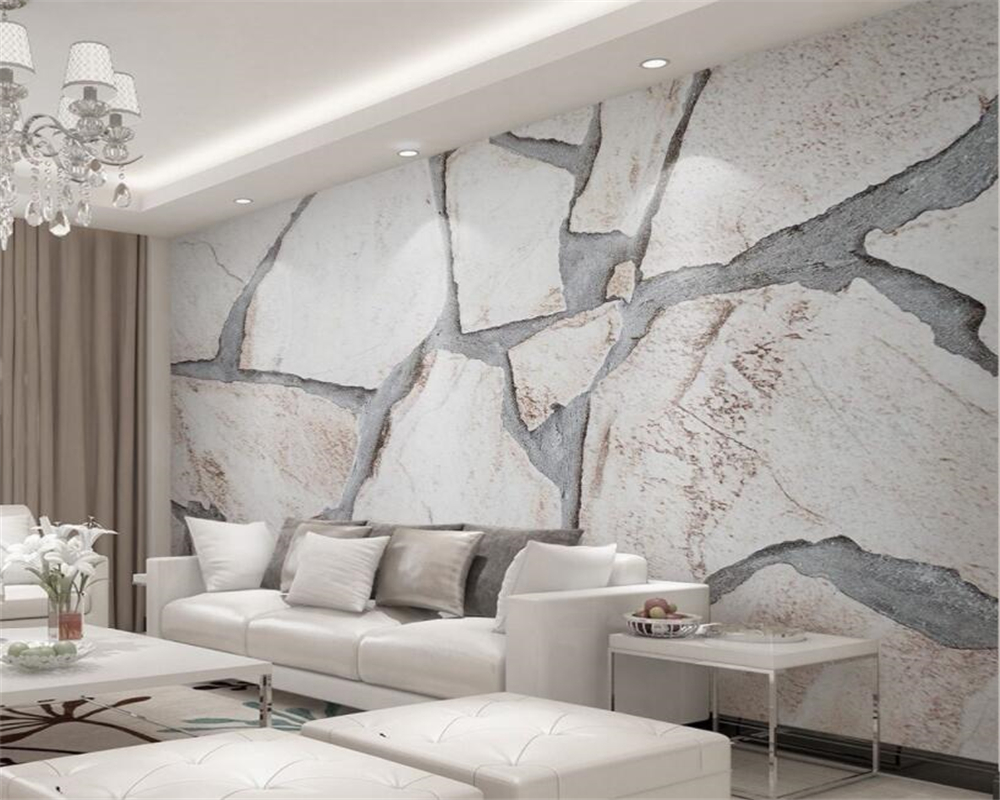 Beibehang wall paper home decor Modern 3d solid texture marble background wall 3d wallpaper