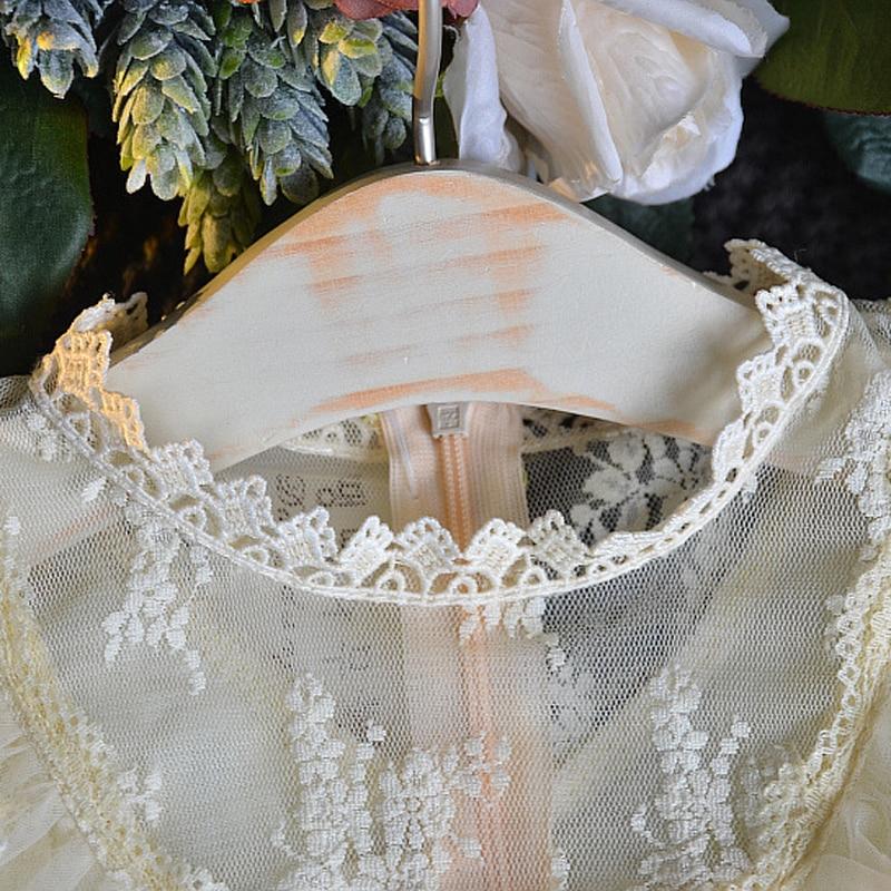 b2bc3bc201a29 New Summer Mesh Clothes Pink & Cream colored lace Princess Dress ...