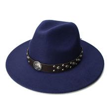 LUCKYLIANJI Retro Kid Child Vintage 100 Wool Wide Brim Cap Fedora Panama Jazz Bowler Hat Anchor