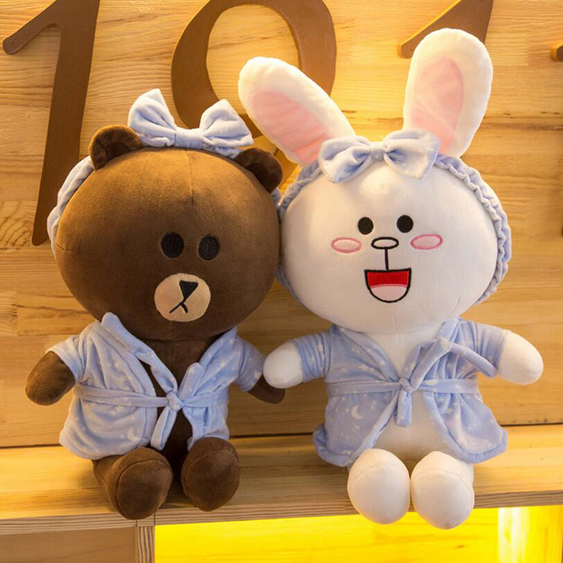 New Cartoon Brown Bear soft bear stuffed animal plush teddy bear Toys For Kids Sleep Stuffed Plush Dolls Cute bear toy peluche