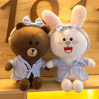 New Cartoon Brown Bear soft bear stuffed animal plush teddy bear Toys For Kids Sleep Stuffed Plush Dolls Cute bear toy peluche