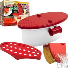 Perfekte Nudelkocher Hitzebeständige PP Boot Mikrowelle Dampfer Boot Sieb Pasta Mikrowelle Küchenhelfer Spaghetti Schüssel