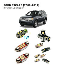 Led interior lights For Ford escape 2008-2012  10pc Led Lights For Cars lighting kit automotive bulbs Canbus led interior lights for dodge challenger 2012 10pc led lights for cars lighting kit automotive bulbs canbus