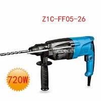 Neue Ankunft Z1C-FF05-26 Auswirkungen Bohrer Hammer Drei Funktionale Tragbare Elektrische Hammer 220 V/50Hz 720W 0-1200r/ min 0-4000min