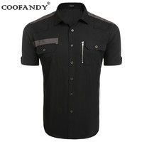 COOFANDY 2017 Shirts For Men Male Wear Men S Short Sleeve Button Pocket Casual Button Down
