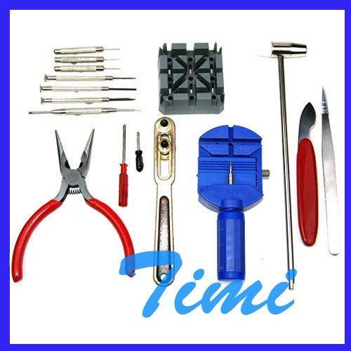 16 x Batería Del Reloj Band Enlace Caja de Herramientas de la Reparación Abierta Kit