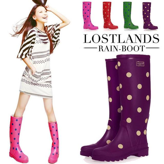 Aliexpress.com : Buy Fashion Polka Dot Waterproof Shoes Women Rain