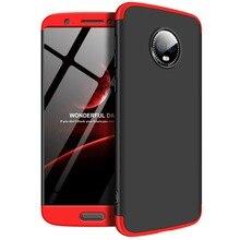For Motorola MOTO G6 Case 360 Degree Full Body Cover Hybrid Shockproof With Tempered Glass for