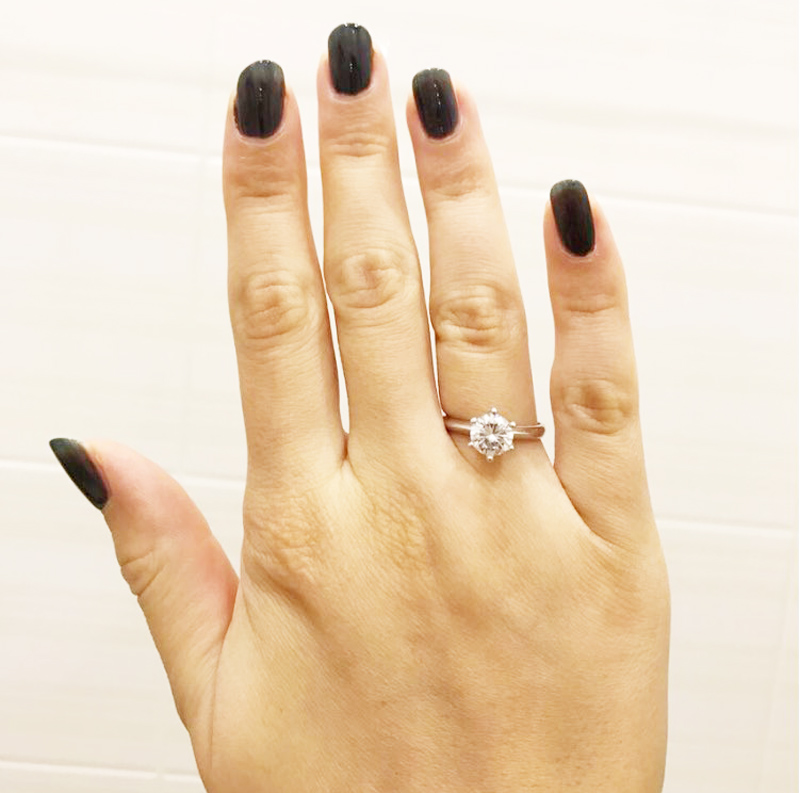 YHAMNI Original Ring Fine Jewelry with 18KRGP Stamp Solid Gold