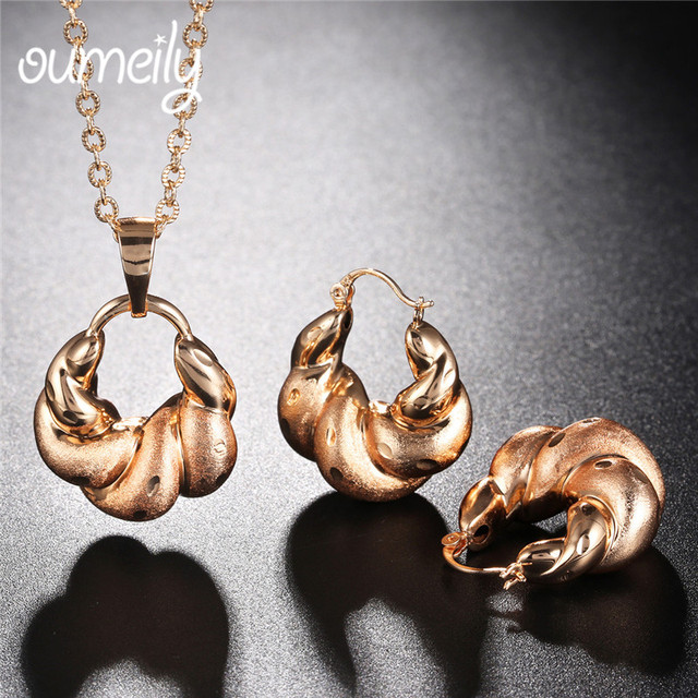 OUMEILY Women Jewelry Sets Costume Jewelry Necklace Party Wedding