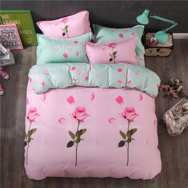 ④Je Tamie Quilt Cover Bedding Sets Queen King Size Bed Linens