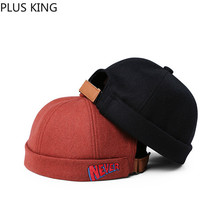 Fashion Never Letter Embroidery Wool Beanies Winter Autumn Vintage Landlord Hat Men Women Orange Gray Black Pink for Ladies