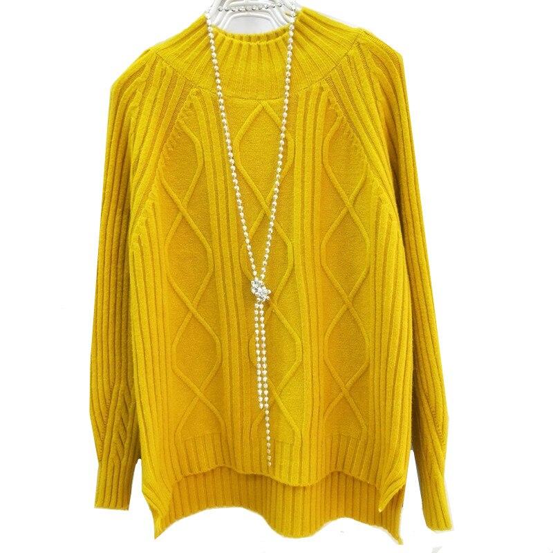 Knitting Sweater Pullovers Women Streetwear Long-Sleeve Autumn Winter Warm Casual Turtleneck
