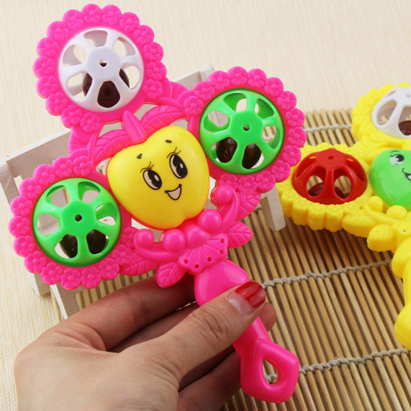 Free Shipping Lovely Infant  Plastic Interactive  Babies Rattles Handbell Developmental Baby  Mobiles Toy
