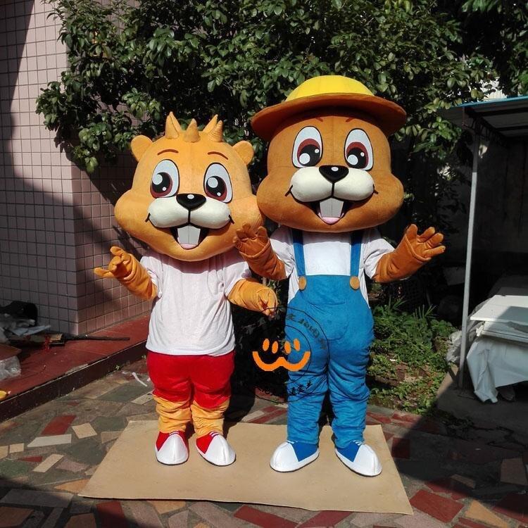 Écureuil mascotte Costume belle adulte dessin animé fantaisie robe de bande dessinée apparence Halloween anniversaire Cosplay vêtements