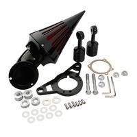 МОТОЦИКЛ хром/черный шип воздухоочиститель Впускной фильтр комплект для Harley 2002 2007 Touring Softail Fat Boy Road King