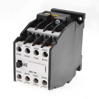цена на JZC1 35mm DIN Rail Mount 3 Pole 4NO 4NC AC/DC Contactor Ui660V Ith10A