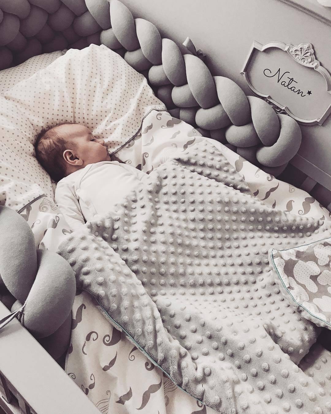 300 cm Bébé Nouveau-Né Lit Protecteur Pad Lit Pare-chocs Lit Pare-chocs Bébé Noeud Conception Tissage Corde Infantile Chambre Décor Literie accessoire