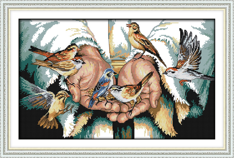 Cu dragoste în mâini Imprimate Canvas DMC Counted chinezesc Cross Stitch Kituri imprimate Cross-cusatura set Broderie Needlework