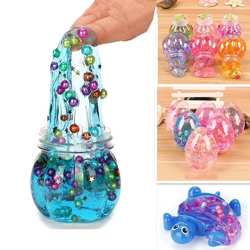 1 Piece Colorful Plasticine Bubble Light Clay Transparent Pearl Crystal Slime Modeling Clay Random Color
