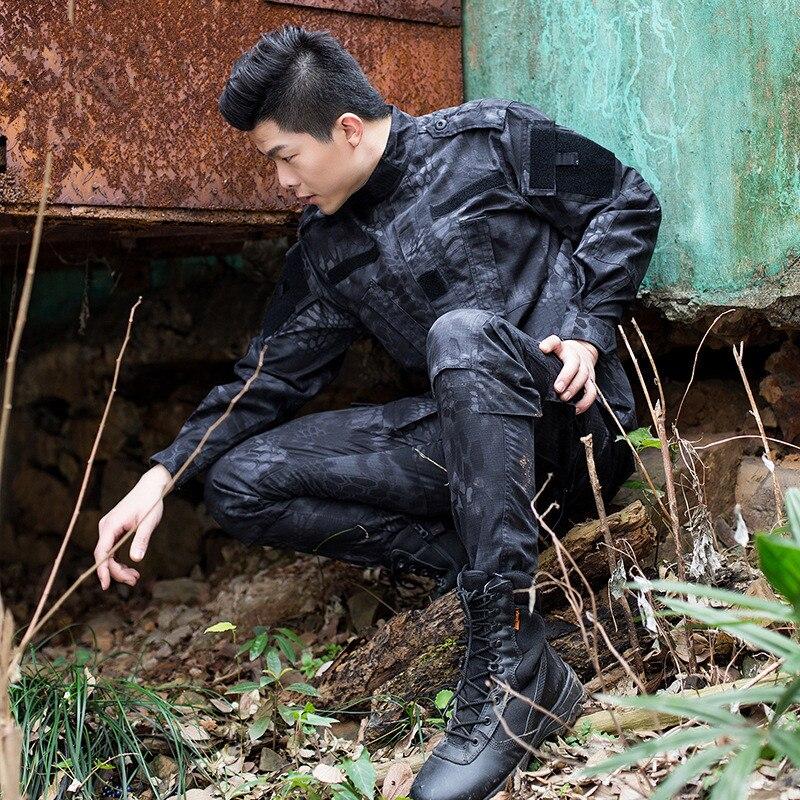 Camouflage Armée Militaire uniforme Amérique Combat Tactique Veste + Pantalon Cargo vêtements hommes matériel militaire