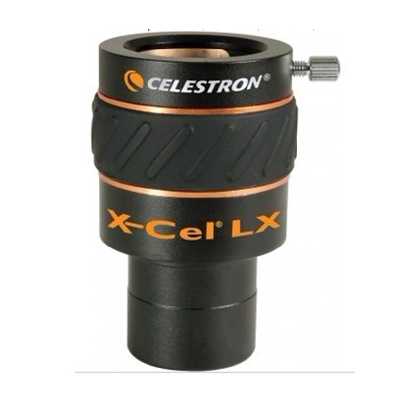 CELESTRON X-CEL 2X-LX barlow eyepiece 3X barlow standard 1.25inch telescope eyepiece accessories price is one celestron astromaster telescope accessory kit 15 mm kellner eyepiece 6 mm pl 2x barlow 80a 25 planetary filter moon filter