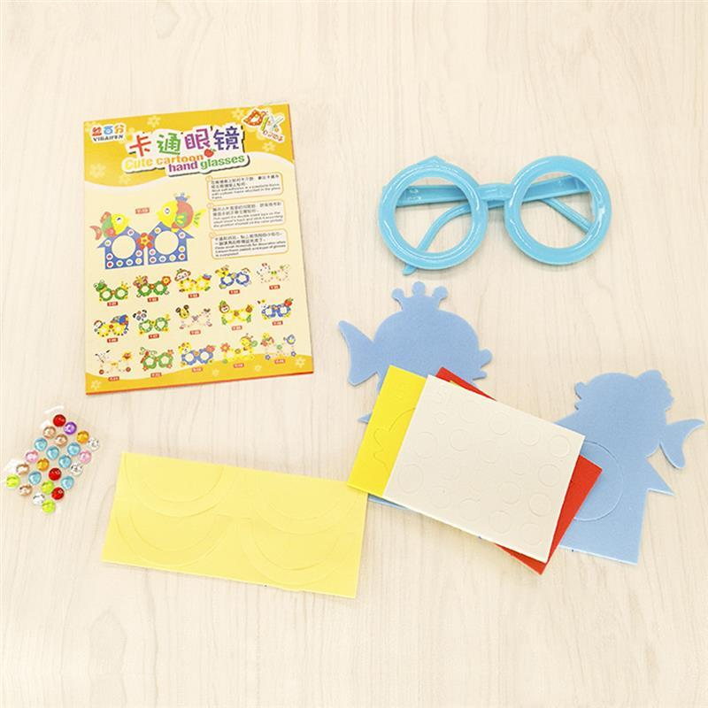 Cute Cartoon Glasses Eva Puzzle Toys Children Art Craft Diy Handmade