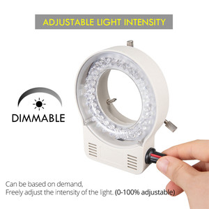 Image 4 - Foxanon LED مصباح مصمم على شكل حلقة المنور مصباح AC 110V 220V قابل للتعديل المجهر ضوء عالية الجودة DC 12V ستيريو Microscopio أضواء
