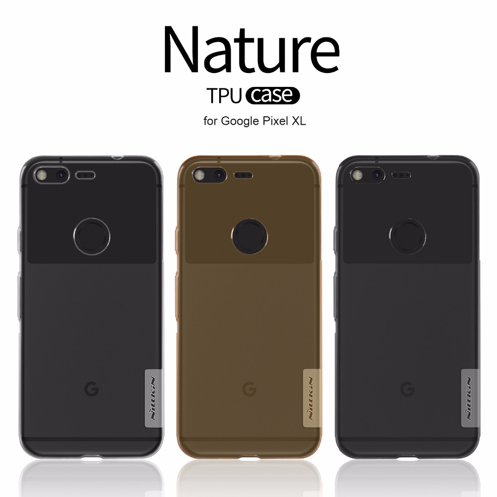 For Google Pixel XL TPU 0.6Mm Ultra Thin Phone Cases For Google Pixel XL Nilkin Silicone Cover Crystal Clear Case