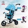 2016 moda triciclo para crianças 1-3-5 anos de idade de três rodas carrinho de bebê walker