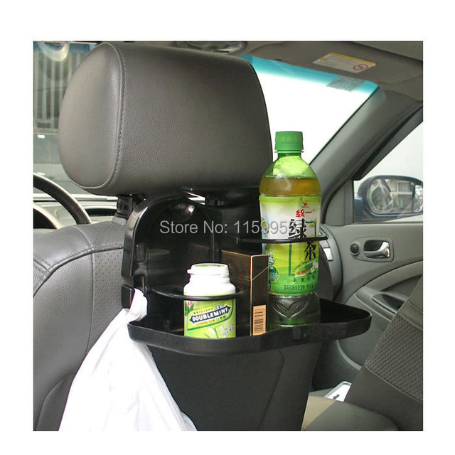 Car Seat Shelf Storage Cup Drinks Auto Back Folding Table Drink Food Tray