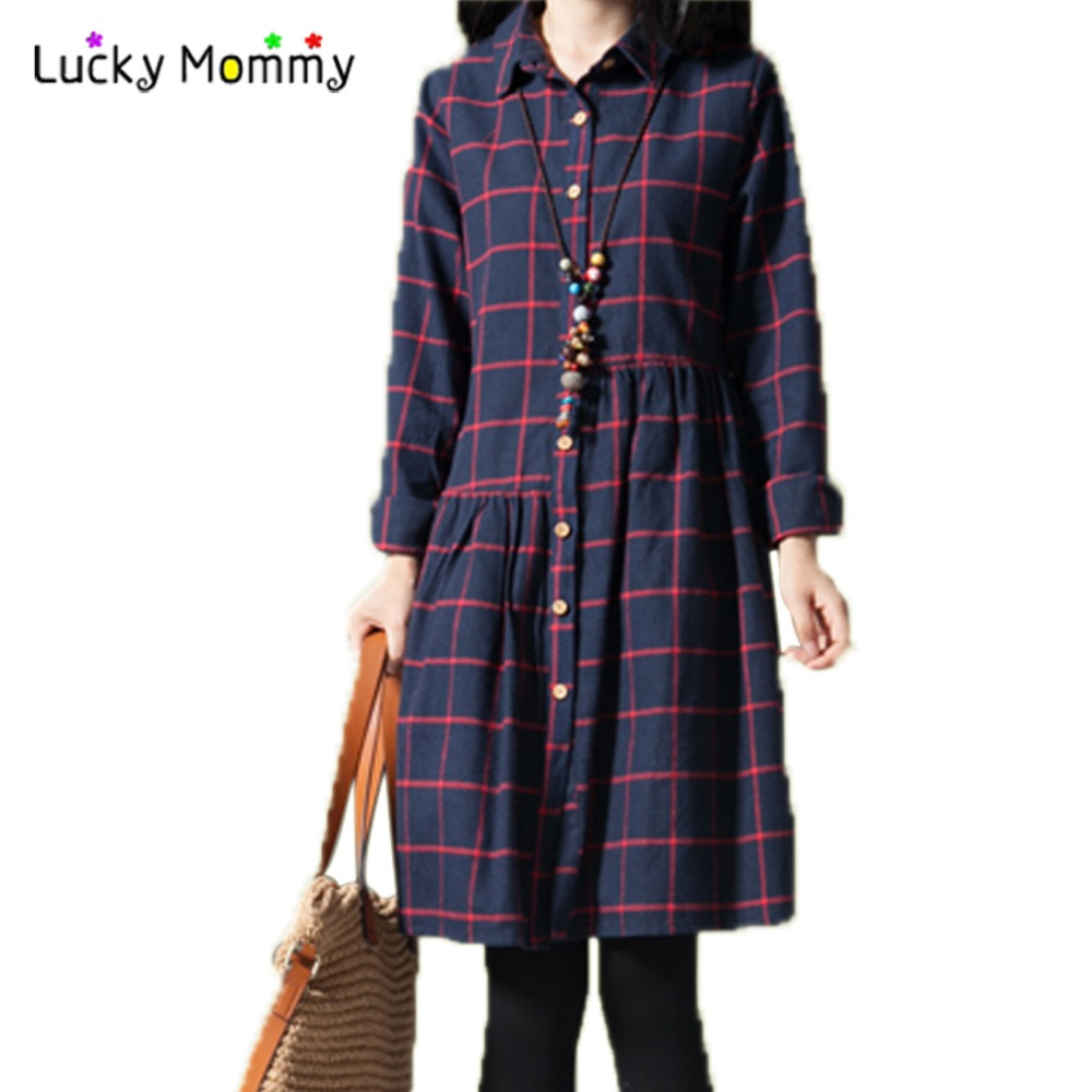 2 Color Cotton Shirt Dress for Pregnant Women Winter Spring Maternity Clothes Long Pregnancy Dresses for Premama Wear M XXL pregnant women long nightdress women sleep nightshirt winter flannel thickening long nightgown maternity