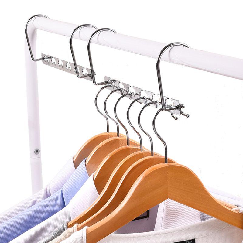Image 2 - Windproof Clothes Hanger Metal Magic Hanging Chain Closet Space Saving Organizer Hook-in Hangers & Racks from Home & Garden