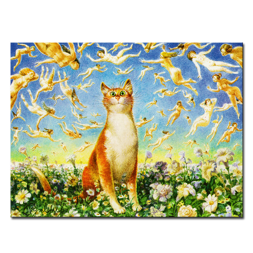 Vladimir Rumyantsev so much cat world oil painting wall Art Picture ...