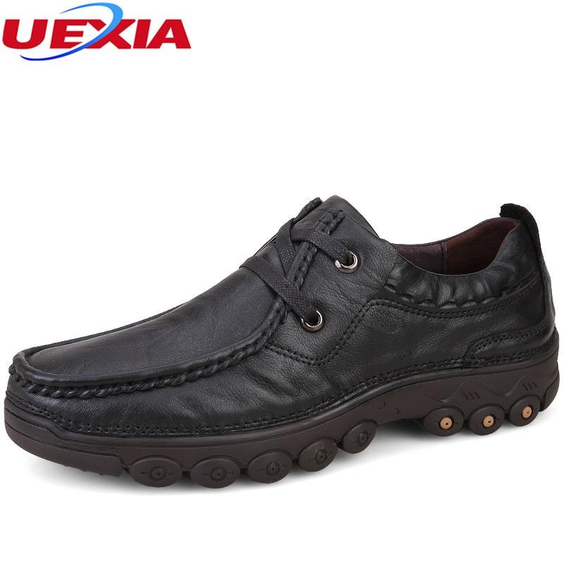 Vintage Moccasins Dad Men Shoes Handmade Soft Leather Breathable Fashion Shoes Men Luxury Outdoor Sport Casual Father Handmade vintage casual handmade 100