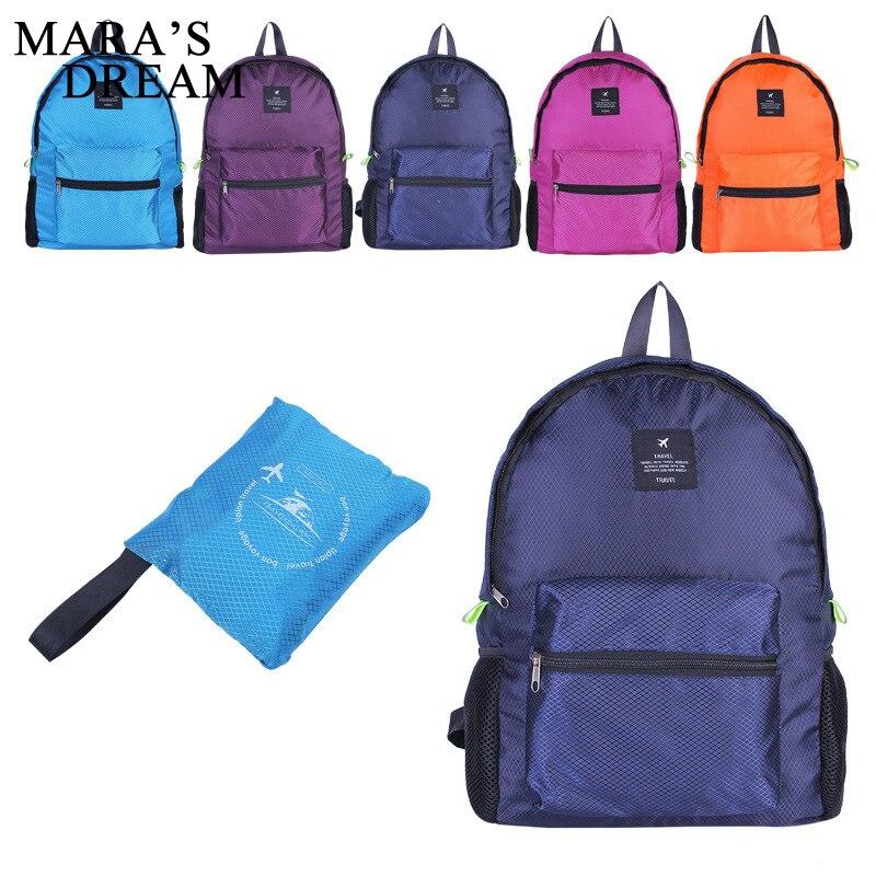 Mara's Dream 2019 Female Backpack Travel Bag Women Backpack Girl Solid Color Zipper Fold Backpack Female Bagpack Mochila  Bags