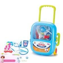 New doctor simulation doctor trolley case, syringe stethoscope medical equipment suitcase set toy.