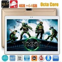 10 pulgadas Octa Core Tablet Android 5.1 4 GB RAM 64 GB ROM 8 Núcleos 1280*800 IPS Niños Regalo MEDIADOS tableta DEL GPS Del Envío Libre