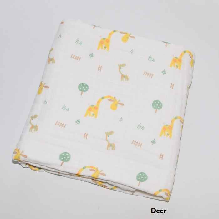 Newborn Baby Blanket Cotton Swaddle 6 layers 120*120cm Cartoon Soft Cotton Newborn Swaddle Children Summer Quilt Kids Blanket