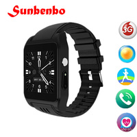 3G Wifi X86 Bluetooth Smart Watch Android Relogio Sim Card Camera Cellular Smartwatch Play Store For