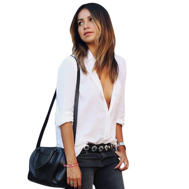 Women Autumn Solid  Shirt Casual Workwear Elegant Long Sleeve Button Pocket Blusas Femininas Formal Linen Tops Ladies Plus Size