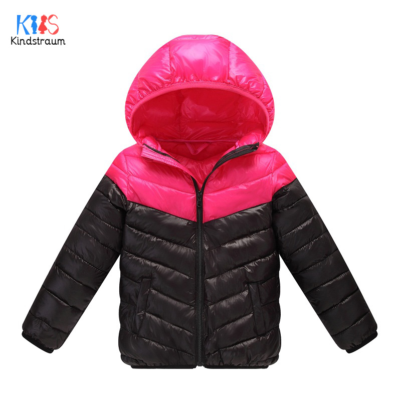 Kindstraum 2017 Girls Down Cotton Jackets Winter Children Solid Hooded Coats Thick Fashion Outwear for Kids,RC1491 casual 2016 winter jacket for boys warm jackets coats outerwears thick hooded down cotton jackets for children boy winter parkas