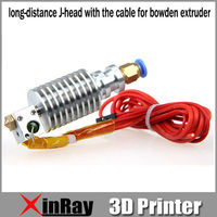 Free Shipping Hot 3D Printer All Metal Long Distance J Head With The Cable For Bowden