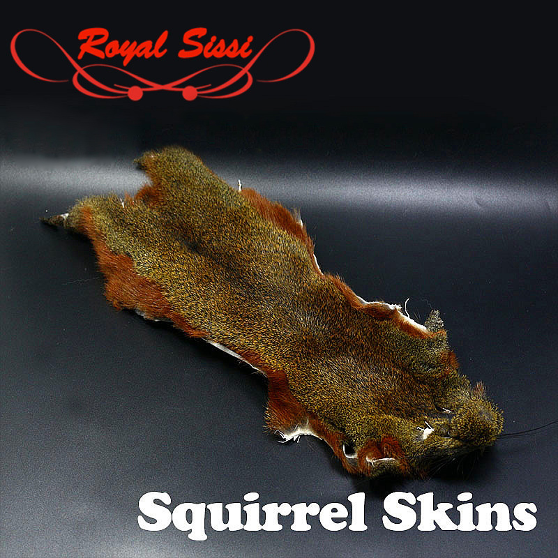 2optional colors Pine Tree squirrel whole skins fly tying hairs& furs tanned or deep grey pine squirrel skin fly tying materials