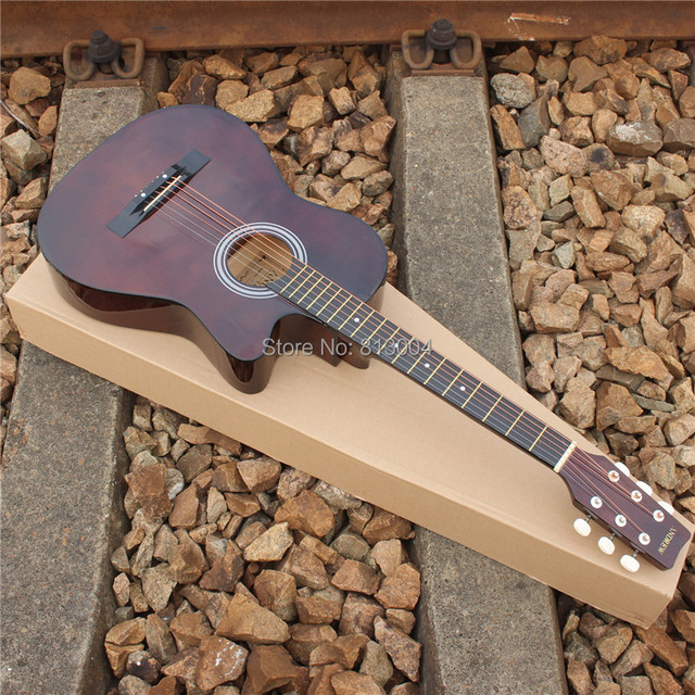 38 inches beginners folk acoustic guitars brown boys and girls in
