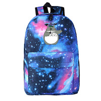 2016 totoro bag Starry Sky backpacks daily anime travel School bags accept drop shipping