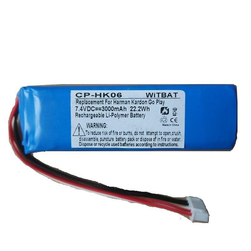 3000mAh 7.4V Bateria para Harman Kardon Ir Jogar Mini Speaker Acumulador Li-Polímero bateria De Polímero De Lítio Recarregável de Substituição